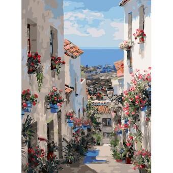 """3251-CS Картина по номерам """"Испания. Михас"""" (30х40 см) на картоне"""