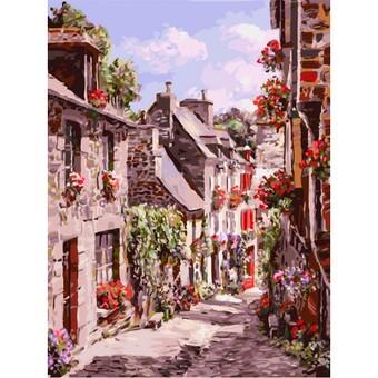 """3254-CS Картина по номерам """"Франция. Динан"""" (30х40 см) на картоне"""