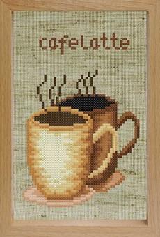"""202-EF Набор для вышивания с деревянной рамкой """"Кофе"""" (17х12 см)"""