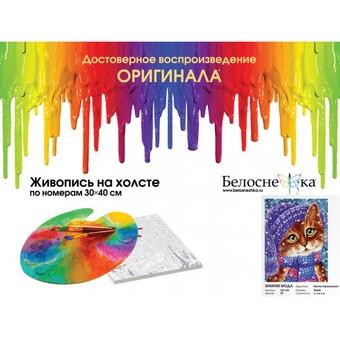 "333-AS Картина по номерам ""Зимняя мода"" (30х40 см) на холсте"