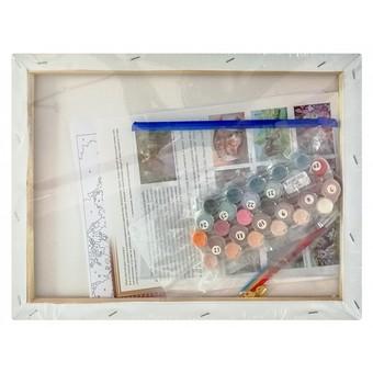 "341-AS Картина по номерам ""Ирбисы"" (30х40 см) на холсте"