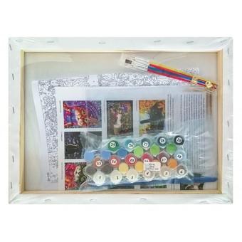 "343-AS Картина по номерам ""Рождественские подарки"" (30х40 см) на холсте"