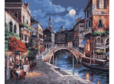"350-CG Картина по номерам ""Ночная Венеция"" (40х50 см)"