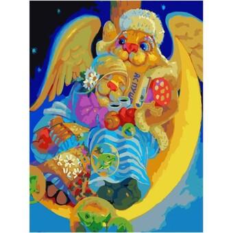 "352-AS Картина по номерам ""Ночной брудершафт"" (30х40 см) на холсте"