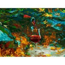 "392-AS Картина по номерам ""Истина в вине"" (30х40 см) на холсте"