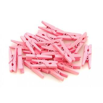 851-DB Прищепки декоративные 20 шт. 2.5 см. розовые