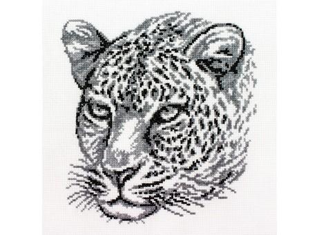 """186-14 Набор для вышивания крестом """"Леопард"""" (20х21,5 см)"""