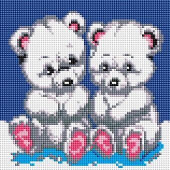 """454-ST-PS Алмазная мозаика в пакете """"Медвежата"""" (20х20 см)"""