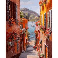 """456-ART Картина по номерам """"Италия. Вид на озеро Комо"""" (40х50 см)"""