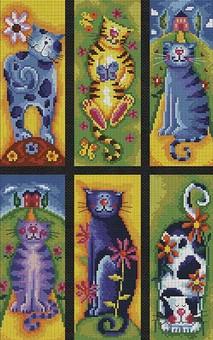 """922-14 Набор для вышивания крестом """"Коллекция кошек"""" (23х36,5 см)"""