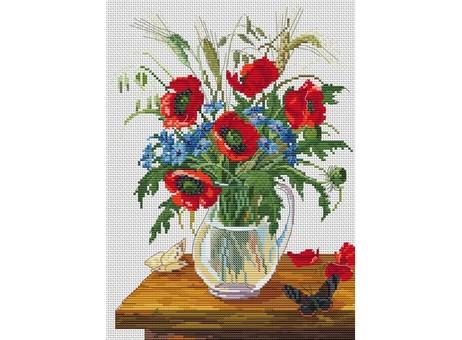 """6023-14 Набор для вышивания крестом """"Букет полевых цветов"""" (20х27,5 см)"""