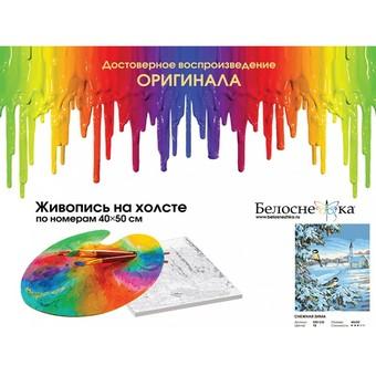 "520-CG Картина по номерам ""Снежная зима"" (40х50 см)"
