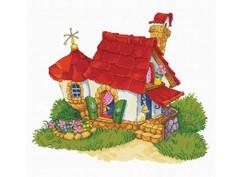 """7535-РК Набор для вышивания с рисунком на канве """"Домик"""" (41,6х50,8 см)"""