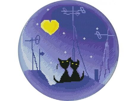 """3061-14 Набор для вышивания крестом """"Лунная ночь"""" (25,2х25,2 см)"""