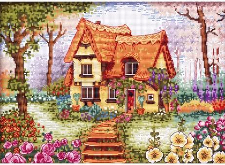 """1898-14 Набор для вышивания крестом """"Сказочный домик"""" (26х36 см)"""