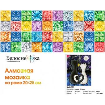 """533-ST-S Алмазная мозаика на подрамнике """"Вместе"""" (20х25 см)"""