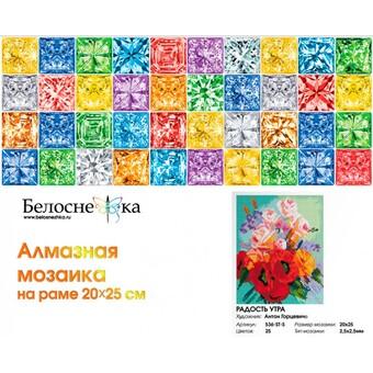 "536-ST-S Алмазная мозаика на подрамнике ""Радость утра"" (20х25 см)"