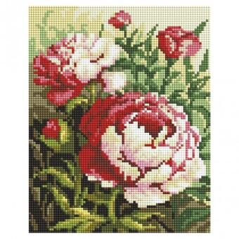 """549-ST-S Алмазная мозаика на подрамнике """"Цветущий куст"""" (20х25 см)"""