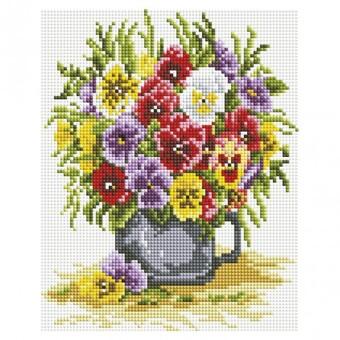 """551-ST-S Алмазная мозаика на подрамнике """"Цветочное счастье"""" (20х25 см)"""