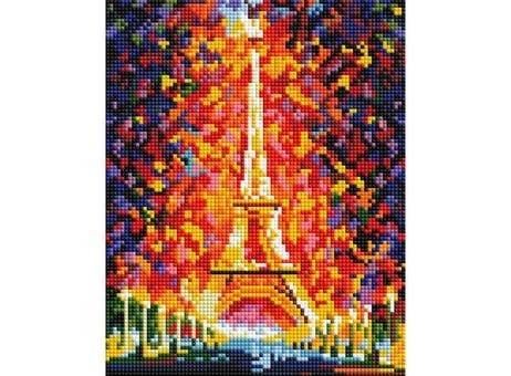 "002-ST-PS Алмазная мозаика в пакете ""Париж-огни Эйфелевой башни"" (20х25 см)"