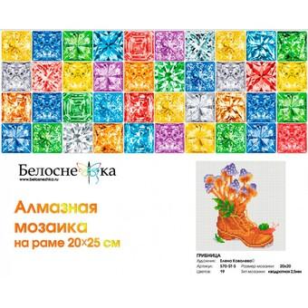"""570-ST-S Алмазная мозаика на подрамнике """"Грибница"""" (20х20 см)"""