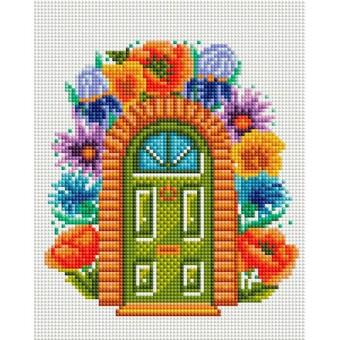 """578-ST-S Алмазная мозаика на подрамнике """"Сказочная дверь"""" (20х25 см)"""