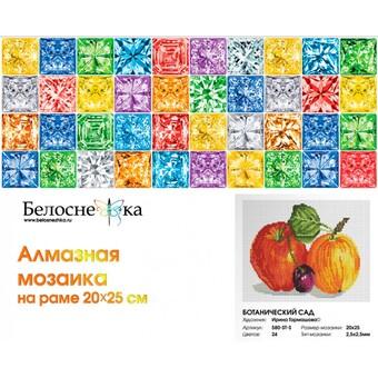 "580-ST-S Алмазная мозаика на подрамнике ""Ботанический сад"" (20х25 см)"
