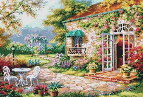 """4029-14 Набор для вышивания крестом """"Цветущий сад"""" (34,5х50 см)"""