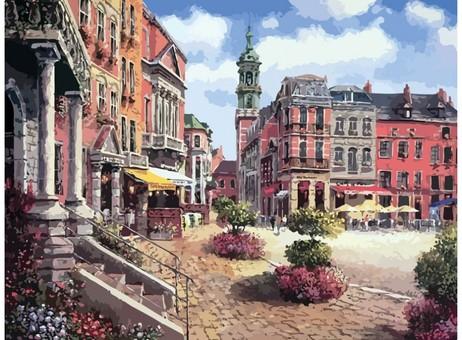 "629-AB Картина по номерам ""Шарлеруа. Бельгия"" (40х50 см)"