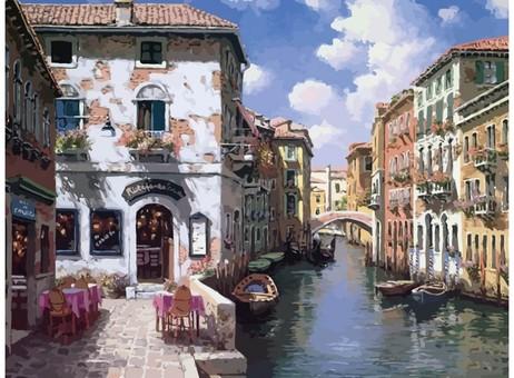"631-AB Картина по номерам ""Венецианские дома"" (40х50 см)"