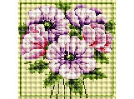 """376-ST-S Алмазная мозаика на подрамнике """"Чудесные цветы"""" (20х20 см)"""
