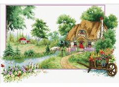"""7571-РК Набор для вышивания с рисунком на канве """"Деревня"""" (40,4х60 см)"""