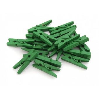853-DB Прищепки декоративные 20 шт. 2.5 см. зеленые