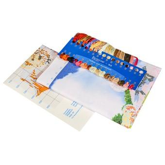 "7068-3D Набор для 3D вышивки ""Семейка медвежат"" (72x47 см)"