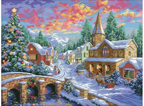 """2289-14 Набор для вышивания крестом """"Рождественская ночь"""" (35х47 см)"""