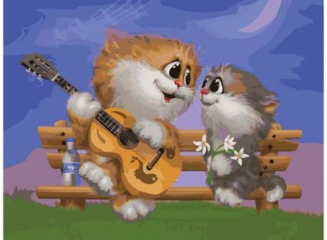"743-AS Картина по номерам ""Песни под гитару"" (30х40 см)"