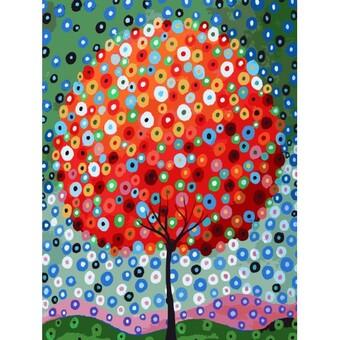 "754-AS Картина по номерам ""Денежное дерево"" (30х40 см)"