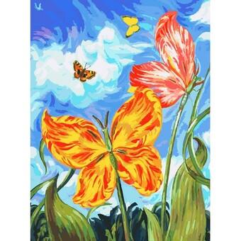 """755-AS Картина по номерам """"Бабочки"""" (30х40 см)"""