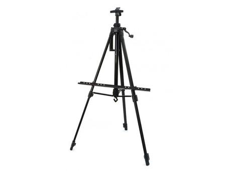 Мольберт телескопический тренога металлический (черный) 76-BS