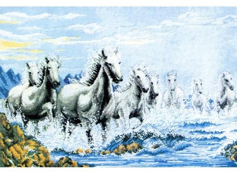 """1015-14 Набор для вышивания крестом """"Табун лошадей"""" (36,5х55 см)"""