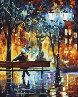 "DAB-359 Картина по номерам ""Одиночество"" (40х50 см) на холсте"