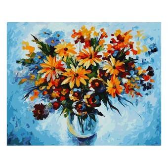 "920-АВ Картина по номерам ""Разноцветные ромашки"" (40х50 см)"