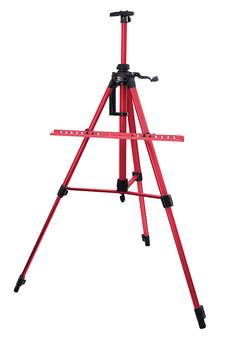 Мольберт телескопический тренога металлический (красный) 80-BS
