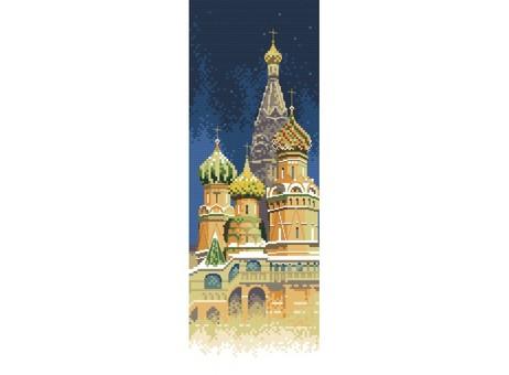 """4061-14 Набор для вышивания крестом """"Покровский собор"""" (11х30 см)"""