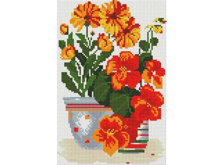 """315-ST-S Алмазная мозаика на подрамнике """"Солнечные цветы"""" (20х30 см)"""