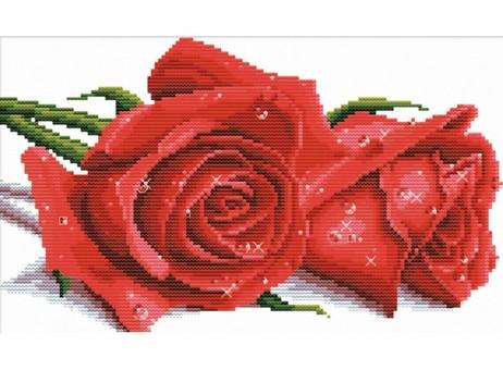 """7530-РК Набор для вышивания с рисунком на канве """"Красные розы"""" (20х33,7 см)"""