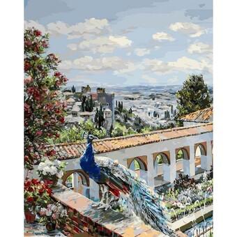 "952-AB-L Картина по номерам ""Сады Гранады"" (40х50 см)"