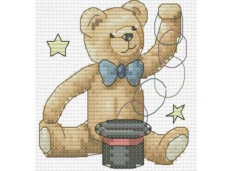 """412-14 Набор для вышивания крестом """"Медвежонок фокусник"""""""