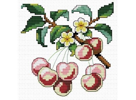 """735-14 Набор для вышивания крестом """"Спелая вишня"""" (11х11 см)"""