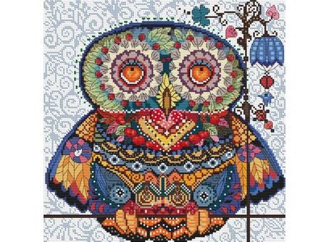 """167-14 Набор для вышивания крестом """"Волшебная сова"""" (27,5х27,5 см)"""